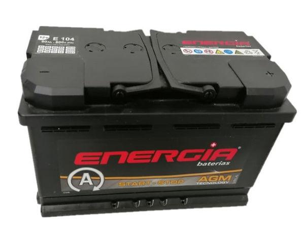 Imagem de BATERIA ENERGIA E104 STAR-STOP AGM 80AH
